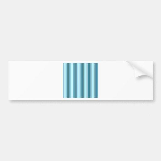 Rayas - blanco y azul del Celadon Pegatina De Parachoque