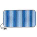 Rayas - blanco y azul iPod altavoces