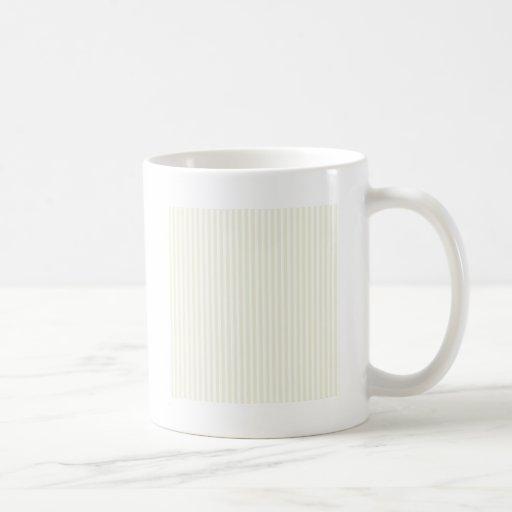 Rayas - blanco y beige taza clásica