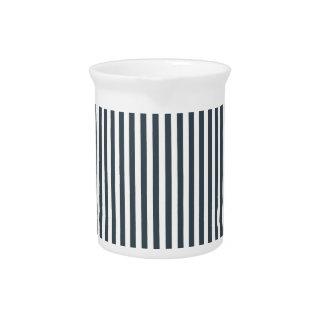 Rayas - blanco y carbón de leña jarron