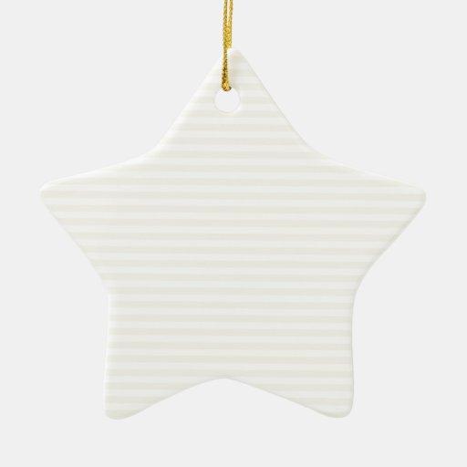 Rayas - blanco y cáscara de huevo adorno de cerámica en forma de estrella