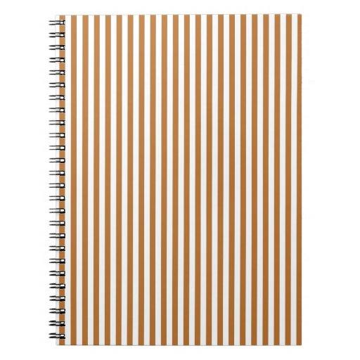 Rayas - blanco y cobre libreta espiral