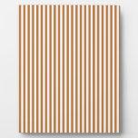 Rayas - blanco y cobre placa de madera