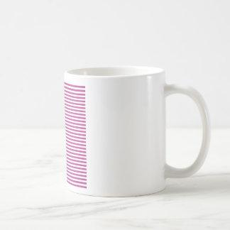 Rayas - blanco y fandango tazas de café