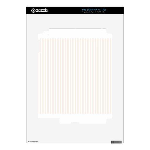 Rayas - blanco y lino calcomanía para el iPad 2