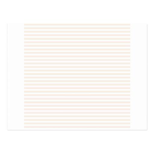 Rayas - blanco y lino postal