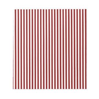 Rayas - blanco y marrón bloc de notas