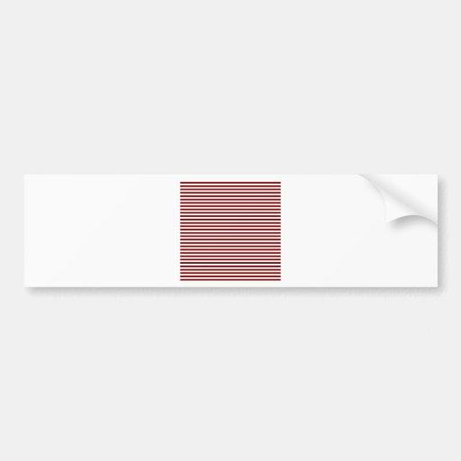 Rayas - blanco y marrón etiqueta de parachoque