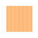 Rayas - blanco y naranja tarjetas postales