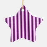 Rayas - blanco y púrpura adorno