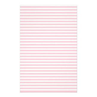 Rayas - blanco y rosa papelería de diseño