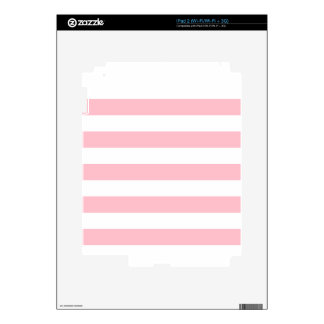 Rayas - blanco y rosa skins para eliPad 2