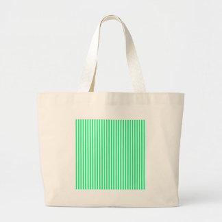 Rayas - blanco y verde de la primavera bolsas