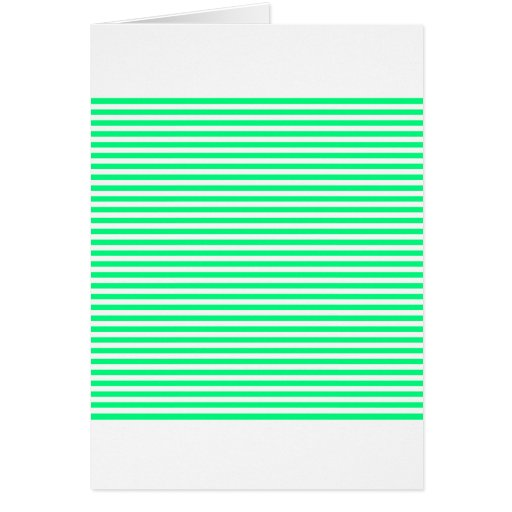 Rayas - blanco y verde de la primavera tarjeta de felicitación