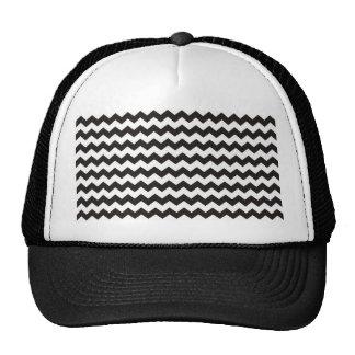 Rayas blancos y negros aztecas del zigzag de Chevr Gorra
