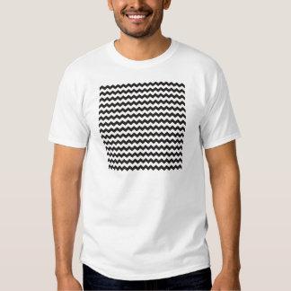 Rayas blancos y negros aztecas del zigzag de Chevr Playera