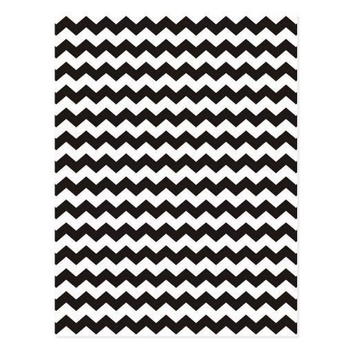 Rayas blancos y negros aztecas del zigzag de tarjetas postales