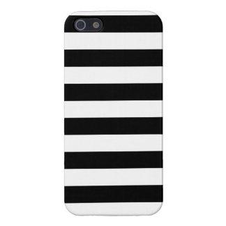 Rayas blancos y negros básicas iPhone 5 cárcasas