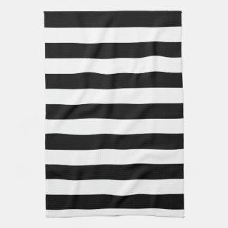 Rayas blancos y negros básicas toalla