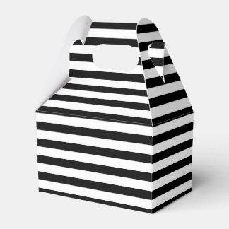 Rayas blancos y negros paquetes de regalo