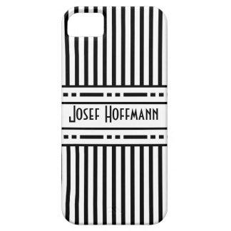 Rayas blancos y negros de la secesión de Viena iPhone 5 Case-Mate Coberturas