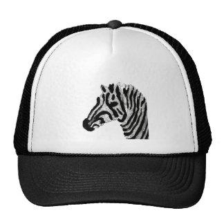Rayas blancos y negros del estampado de zebra gorros bordados