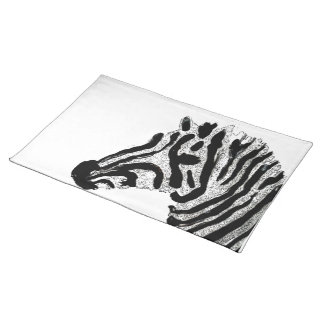 Rayas blancos y negros del estampado de zebra manteles