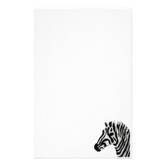 Rayas blancos y negros del estampado de zebra papelería de diseño