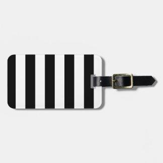 Rayas - blancos y negros etiquetas bolsa