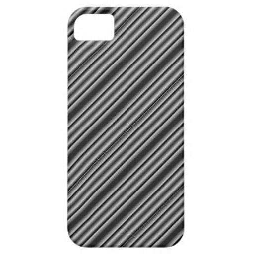 Rayas blancos y negros iPhone 5 Case-Mate funda