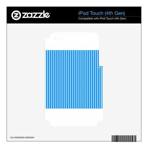 Rayas - Blue1 - azul y azul de la ventisca Skins Para iPod Touch 4G