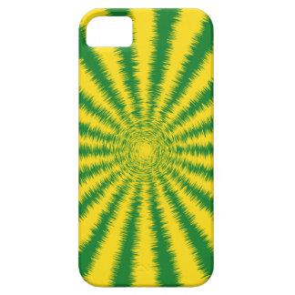 Rayas borrosas del resplandor solar del verde iPhone 5 protectores