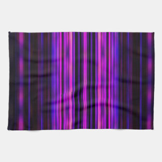 Rayas borrosas púrpura que brillan intensamente toalla