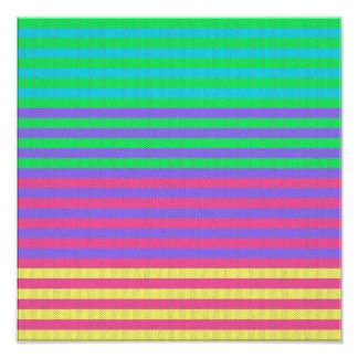 Rayas brillantes coloridas de la tela arte fotografico