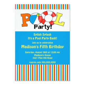 ¡Rayas brillantes de la invitación del cumpleaños