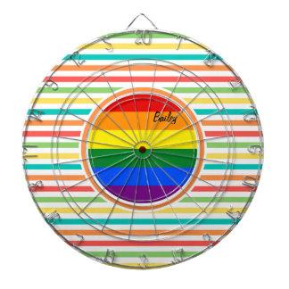 Rayas brillantes del arco iris, bandera de LGBT Tabla Dardos