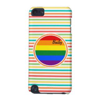 Rayas brillantes del arco iris, bandera de LGBT Funda Para iPod Touch 5G