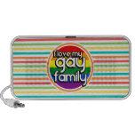 Rayas brillantes del arco iris, familia gay mp3 altavoces