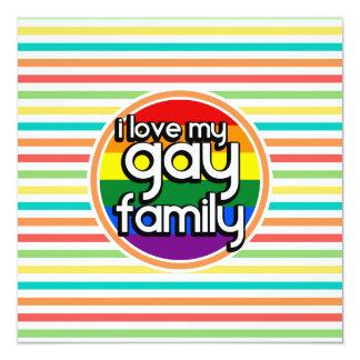 Rayas brillantes del arco iris, familia gay comunicado personalizado