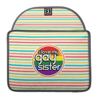 Rayas brillantes del arco iris, hermana gay fundas macbook pro