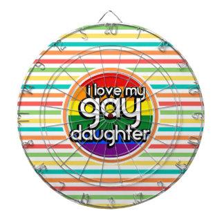 Rayas brillantes del arco iris, hija gay tabla dardos