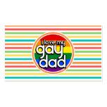Rayas brillantes del arco iris, papá gay plantilla de tarjeta de visita