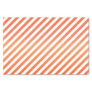 Rayas brillantes del naranja y del blanco papel de seda pequeño