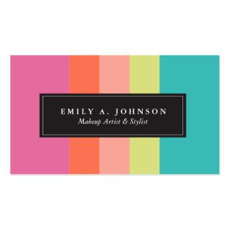 Rayas brillantes personalizadas del | tarjetas de visita