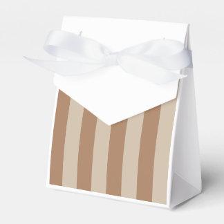 Rayas - Brown y marrón claro Paquetes De Regalo Para Bodas