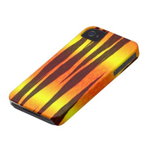 rayas calientes del tigre del fuego iPhone 4 protectores
