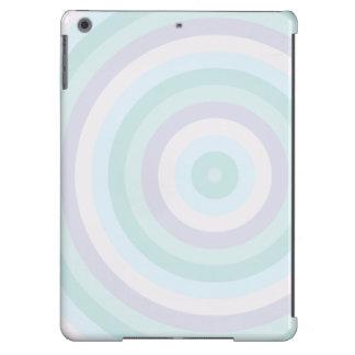 Rayas circulares en colores pastel que calman funda para iPad air