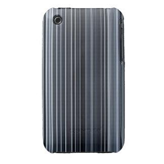 Rayas clásicas azules verticales iPhone 3 Case-Mate protector