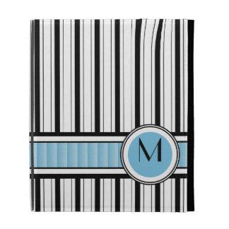 Rayas clásicas con el monograma de Blue Ribbon