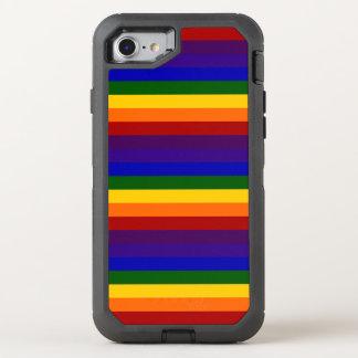 Rayas coloreadas arco iris funda OtterBox defender para iPhone 7